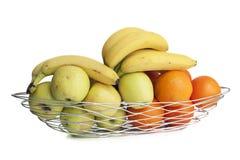Cesta del metal de la fruta Imagen de archivo libre de regalías