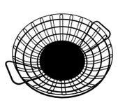 Cesta del vector 01 de los alambres de metal Fotografía de archivo