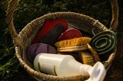 Cesta determinada de la limpieza del caballo Imagen de archivo libre de regalías