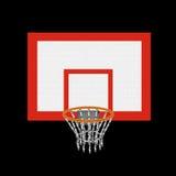 Cesta do basquetebol ilustração royalty free