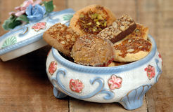 Cesta do biscoito Imagens de Stock Royalty Free