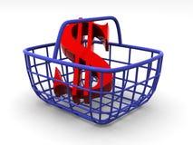 Cesta do consumidor ilustração do vetor
