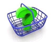 Cesta do consumidor Imagens de Stock