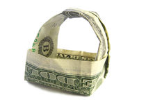 Cesta do dólar Imagens de Stock