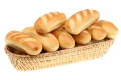 Cesta do rolo de pão. Fotos de Stock