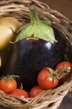 Cesta dos legumes frescos Fotos de Stock Royalty Free