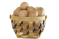 Cesta dos ovos Imagens de Stock Royalty Free