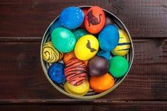 Cesta dos ovos da páscoa Foto de Stock