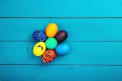 Cesta dos ovos da páscoa Fotografia de Stock Royalty Free