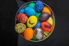 Cesta dos ovos da páscoa Foto de Stock Royalty Free