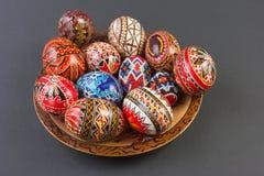 Cesta dos ovos de Easter Foto de Stock