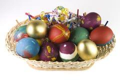 Cesta dos ovos de Easter Imagem de Stock