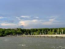 A cesta dos peixes no leste de Tailândia Foto de Stock