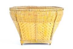 Cesta feita do bambu imagens de stock
