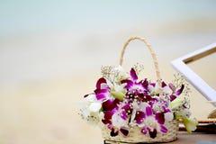 Cesta floral Fotografia de Stock