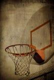 Cesta Grunge do basquetebol Fotos de Stock