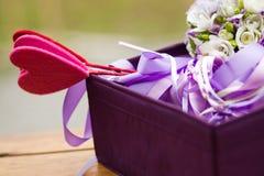 Cesta hermosa de la boda Imágenes de archivo libres de regalías