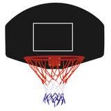 Cesta negra del baloncesto Imagenes de archivo