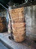 Cesta no mercado de produto fresco Foto de Stock Royalty Free
