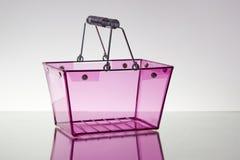 Cesta rosada Fotografía de archivo libre de regalías