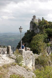 Cesta tower in the country of San Marino Royalty Free Stock Photo