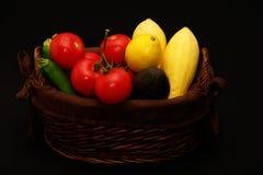 Cesta vegetal Foto de archivo