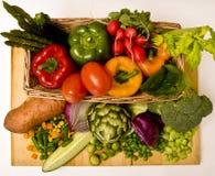 Cesta vegetal Foto de Stock