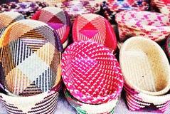 Cestaria tailandesa tradicional feito a mão bonita do estilo Imagem de Stock Royalty Free