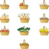 cestas da palha Foto de Stock Royalty Free