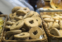 Cestas de biscoitos frescos Imagem de Stock