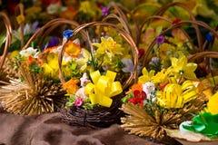 Cestas de Easter Fotos de Stock
