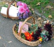 Cestas de flores Imagenes de archivo