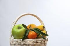 Cestas de fruta Fotografía de archivo libre de regalías