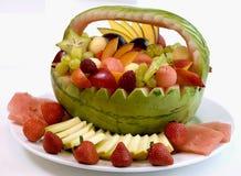 Cestas de fruta Foto de Stock Royalty Free