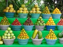 Cestas de fruto Imagens de Stock Royalty Free