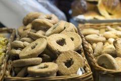 Cestas de galletas frescas Imagen de archivo