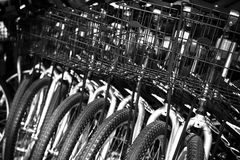 Cestas de la bici imagen de archivo