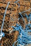 Cestas de la langosta en el puerto escocés, Portsoy #2 foto de archivo