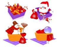 Cestas de la Navidad ilustración del vector