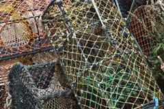 Cestas de la pesca Imagen de archivo libre de regalías