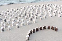 Cestas de la playa Imagen de archivo libre de regalías