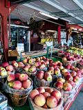Cestas de maçãs maduras Foto de Stock Royalty Free