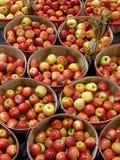 Cestas de manzanas Foto de archivo libre de regalías
