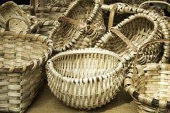 Cestas de mimbre hechas a mano Fotografía de archivo libre de regalías