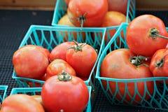 Cestas de tomates Fotografía de archivo libre de regalías