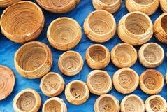 Cestas de vime, artesanatos indianos justos em Kolkata Imagem de Stock Royalty Free