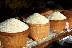 Cestas del arroz Foto de archivo libre de regalías