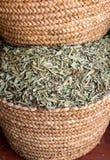 Cestas do chá indicadas em um mercado em C4marraquexe Fotos de Stock Royalty Free