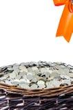 Cestas do presente da moeda Imagens de Stock