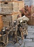 Cestas e mercadorias do handwork Fotos de Stock Royalty Free